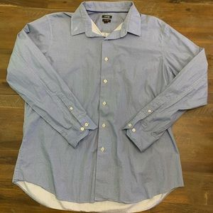 Apt. 9 blue patterned mens long sleeve dress shirt